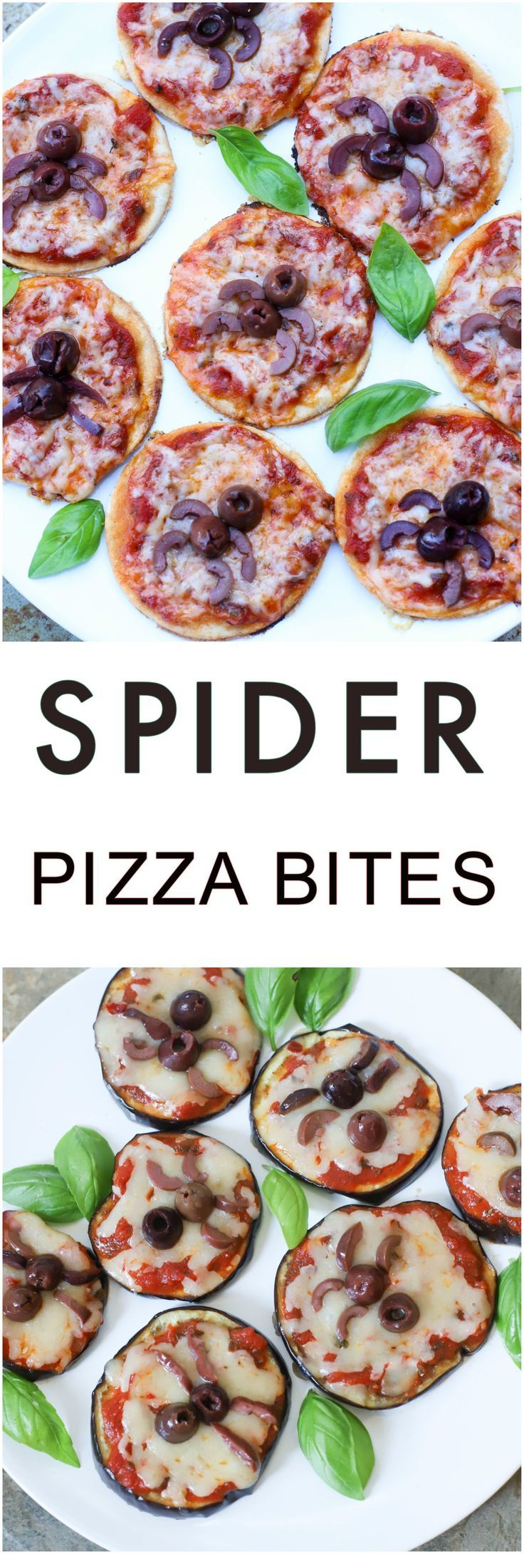Spider Pizza Bites are simple Halloween-themed appetizers great for both adults and kids. Requires very little ingredients & quick! #halloween