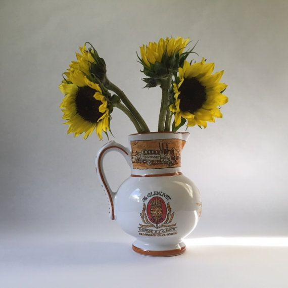 vintage French pottery pitcher for by sophisticatedflorida on Etsy