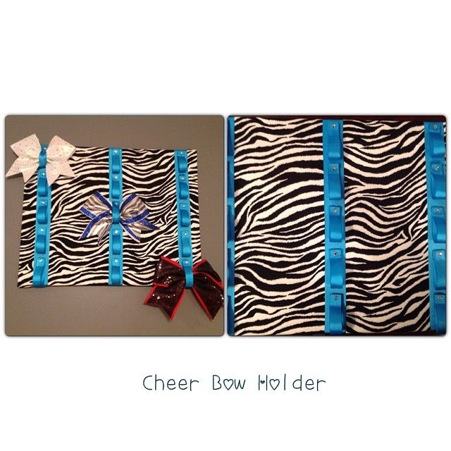 how to make a cheerleading bow holder