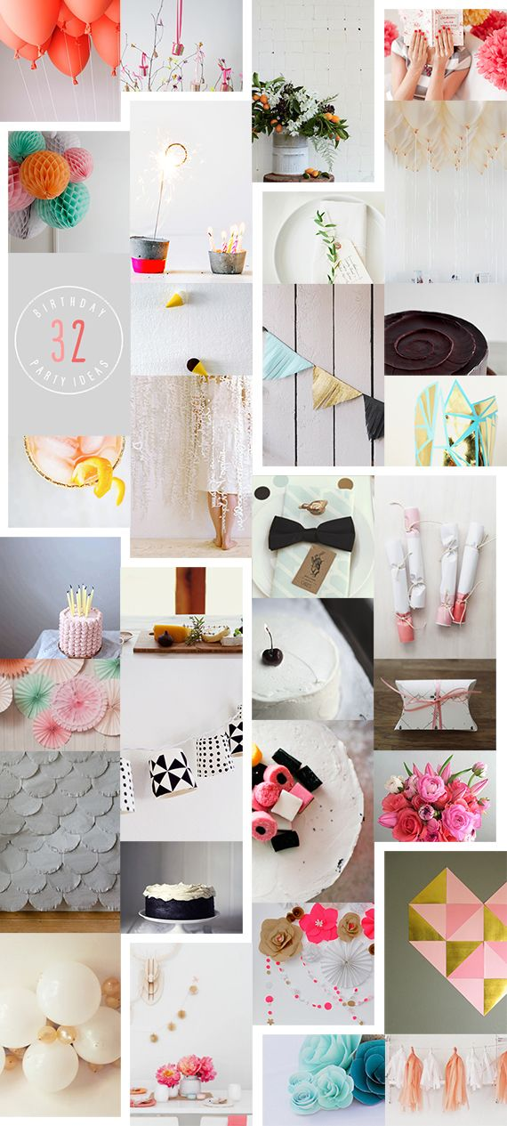 32 Creative Birthday Party Ideas #stylelab