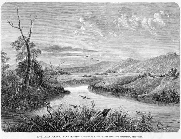 FIVE MILE CREEK, CLUNES. [picture] , State Library of Victoria
