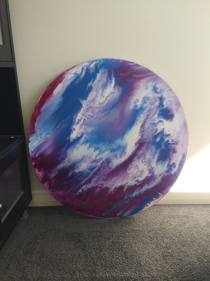 Fluid pouring painting, Acrylic canvas abstract