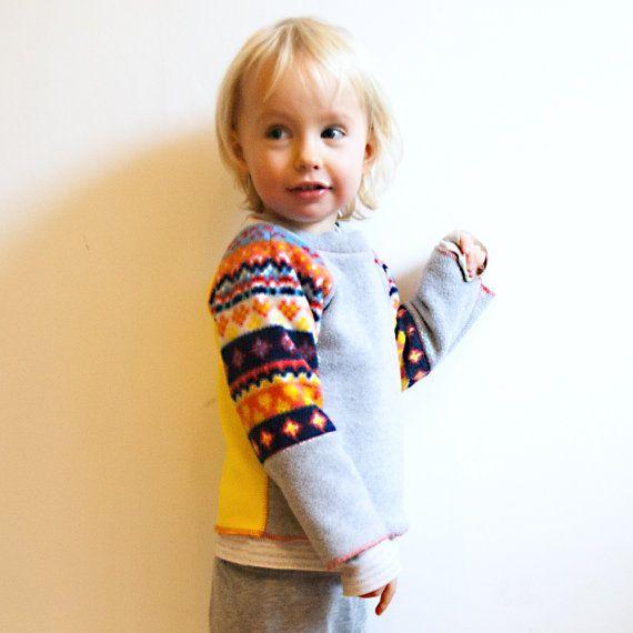 scandi fleece sweatshirt top  baby  bright nordic by marissav, £15.00