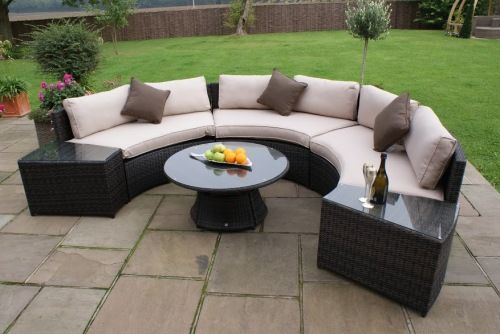 Half Moon Garden Sofa Set