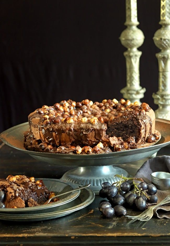 Decadent chocolate and candied hazelnut cake | Good Magazine Photography Sally Greer