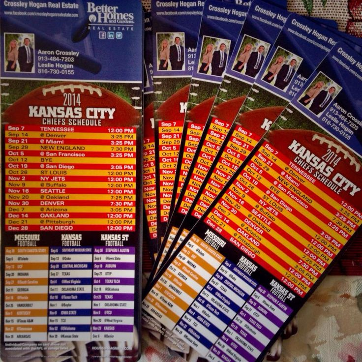 Our New Football Schedule Magnets For Our Clients. Crossley Hogan Real  Estate With Better Homes