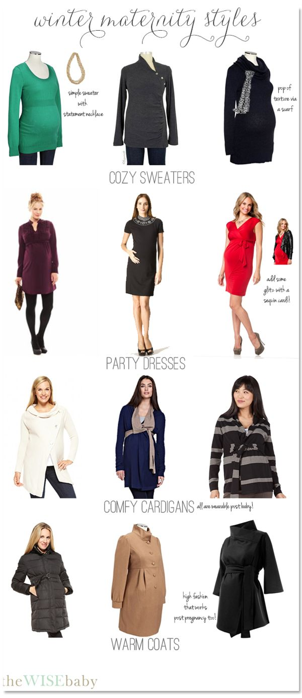 Fabulous winter maternity clothes to keep you stylish all winter long!