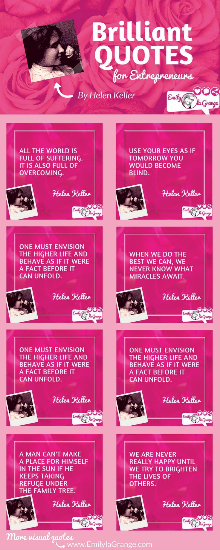 Brilliant Quotes for Entrepreneurs by Helen Keller
