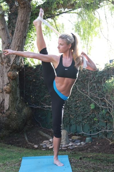 Use a strap to get a deeper stretch...and yes, it's possible.: Fit Workout, Weights Loss Program, Exerci Workout, Workout Exerci, The Challenges, Yoga Poses, Physics Exerci, Weights Loss Secret, Fit Motivation