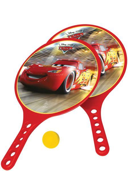 Autot-rantapallomailat. Kuka on perheen mestari kesän hauskimmassa pihapelissä? Toimii taattuna viihteenä myös uimarannalla tai piknikillä. Pakkaus sisältää kaksi Autot-mailaa ja pallon.