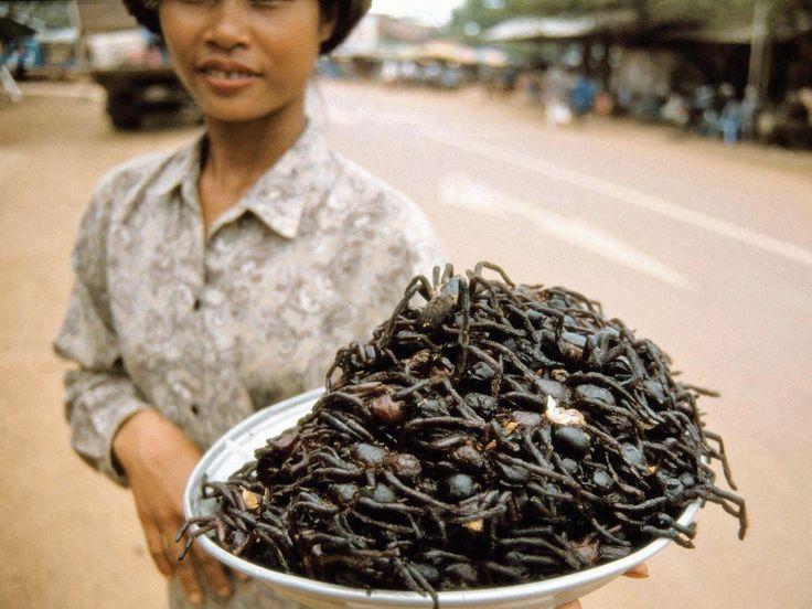 Las 15 comidas más raras del mundo Tarántula frita de Camboya
