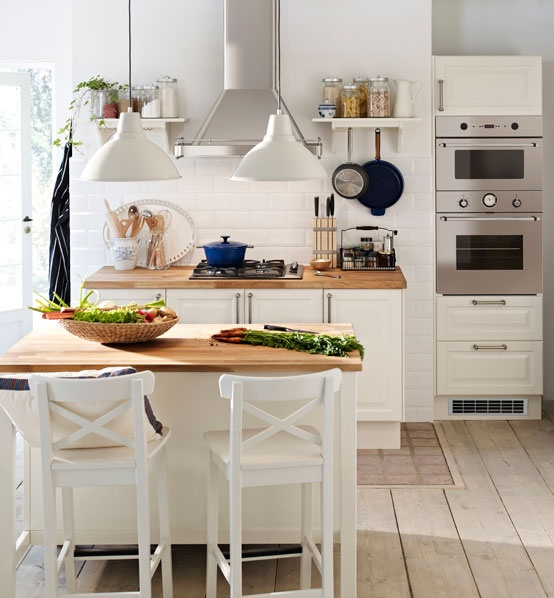 Myidealhome Classic White Kitchen Via Inspired By Ikea