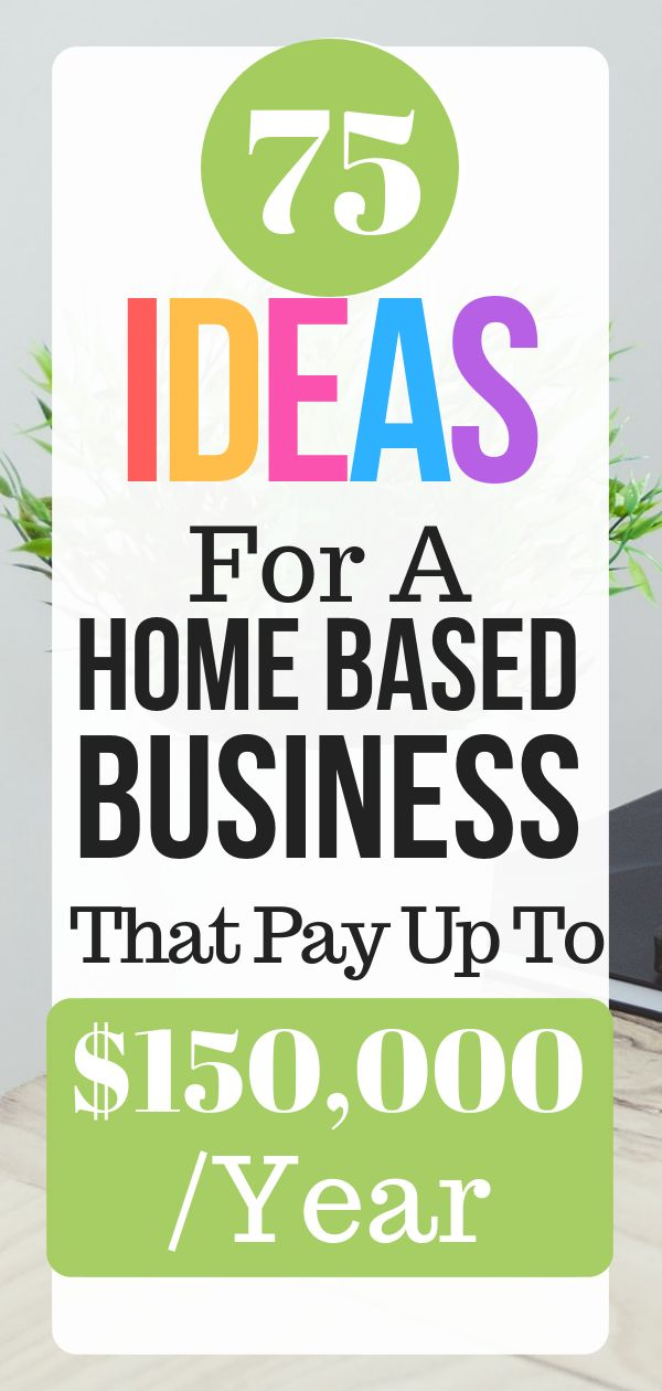 75 Ideas For A Home Based Business That Pay Up To $150,000 /Year