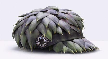 Artichoke hat by Fulvia Bonavia