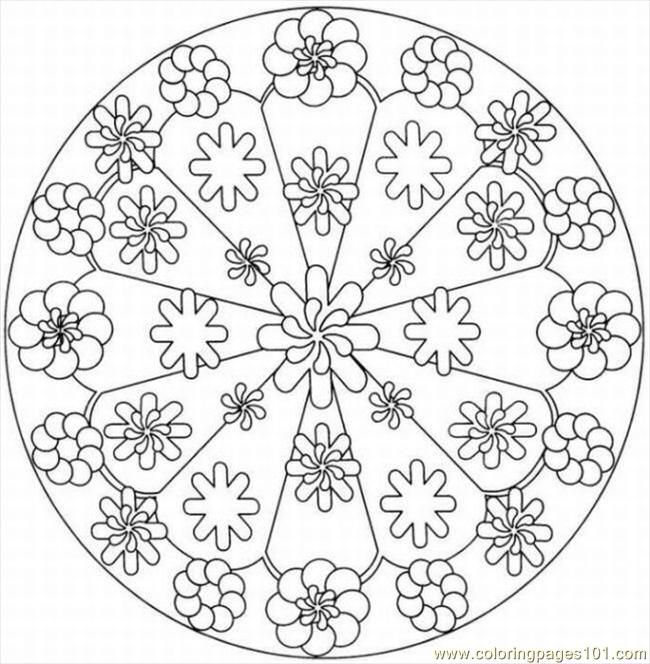 Printable Kaleidoscope Coloring Pages Free Page 2lrg Other