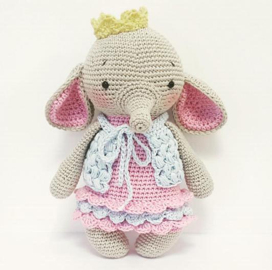 Elephant doll amigurumi