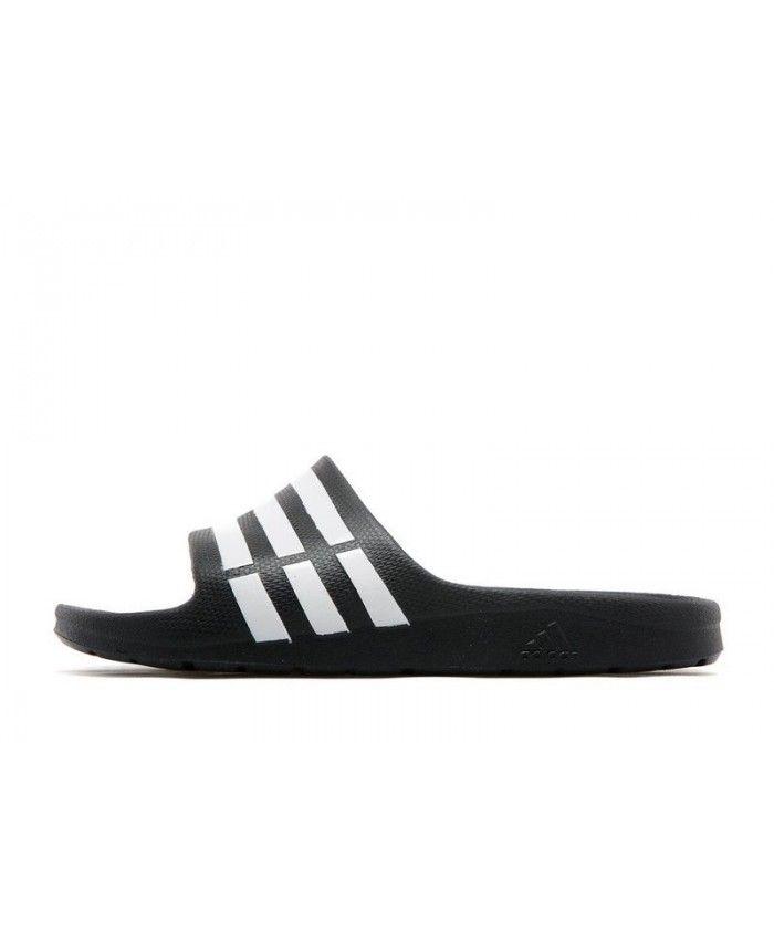 150327f6f8add Kid s Adidas Duramo Slides Black Sneakers 080398