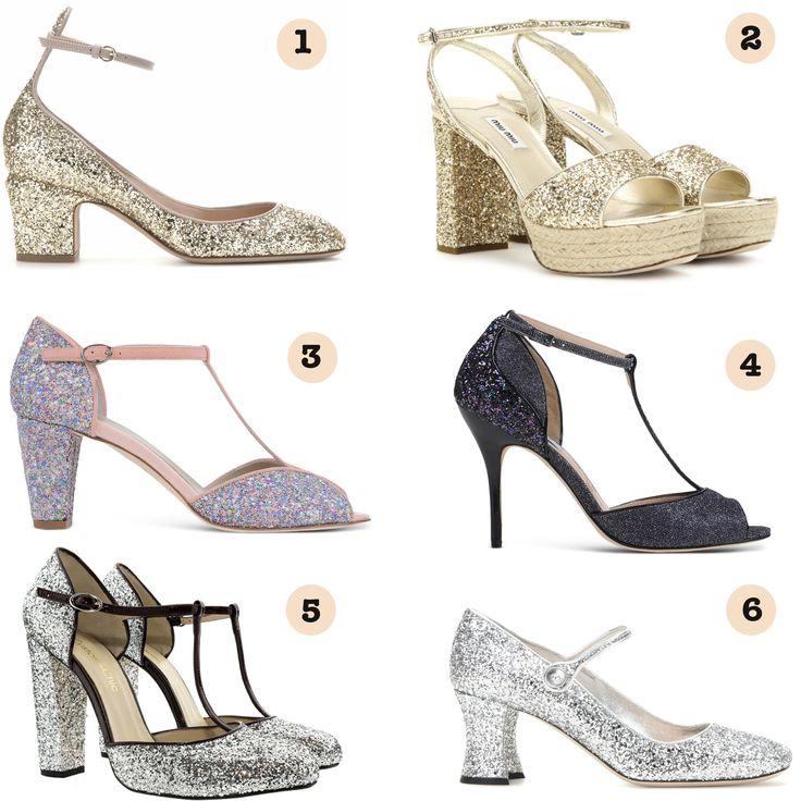 zapato novia glitter