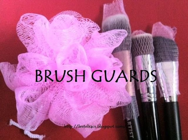 sanity...(fades): DIY : Brush Guards made from Shower Ball
