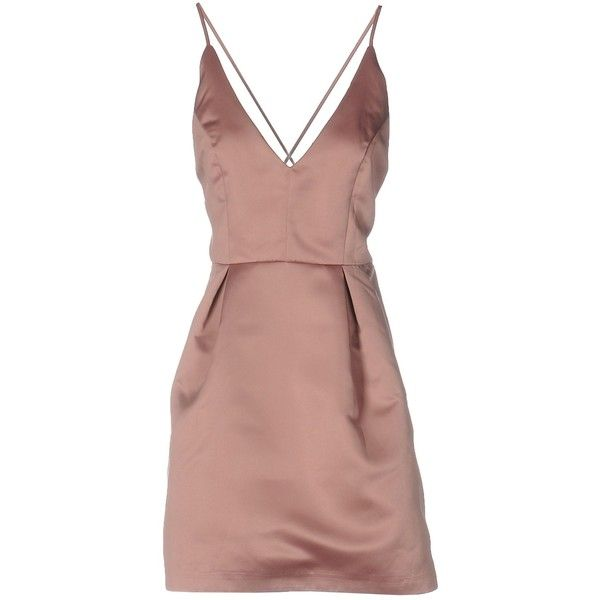 Supervintage Short Dress ($93) ❤ liked on Polyvore featuring dresses, pastel pink, zipper dress, pocket dress, pastel pink dress, sleeveless swing dress and pink swing dress