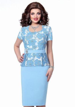 Платье голубое, розы на органзе - заказать и купить с доставкой в интернет-магазине «L'MARKA»