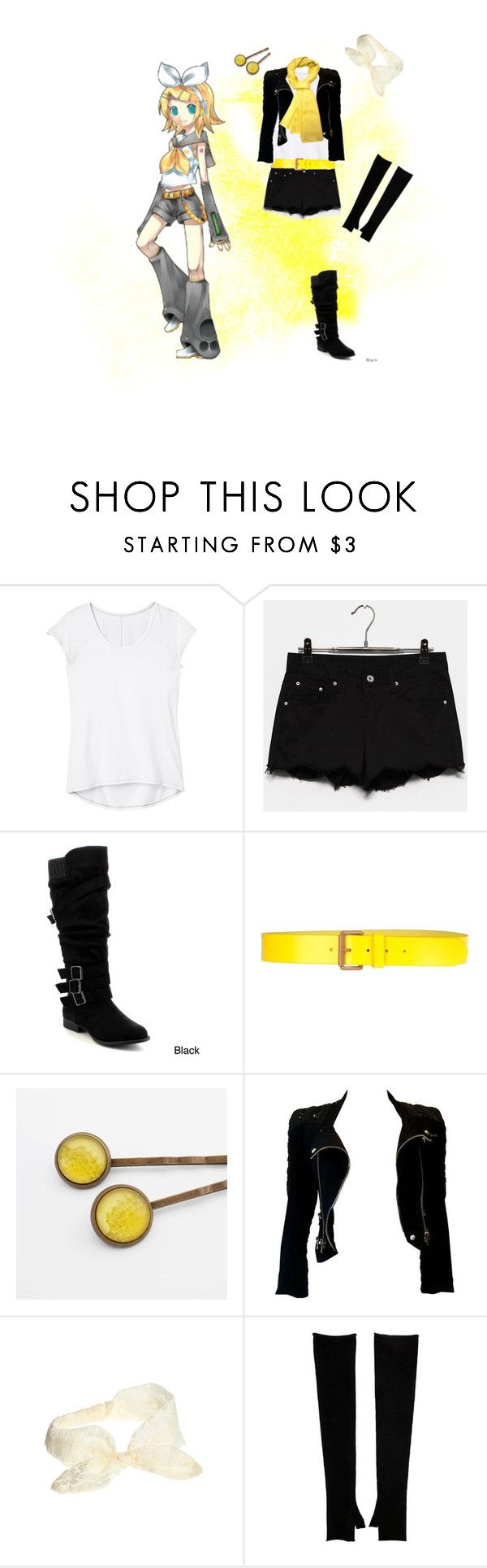 """Rin Kagamine Casual Cosplay, Vocaloid"" by psychometorzi ❤ liked on Polyvore featuring Athleta, Stefanel, Balmain, ASOS, Tory Burch and Denis Colomb"