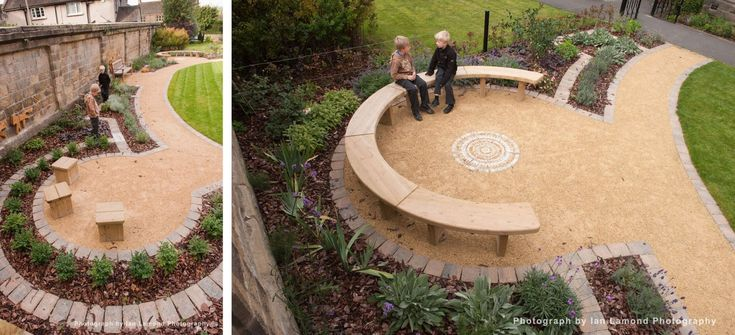 Seating area for garden plan School Garden Ideas