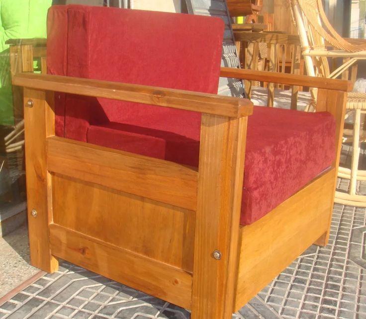 sofá sillón cama de 1 plaza de madera super-refozado!!!