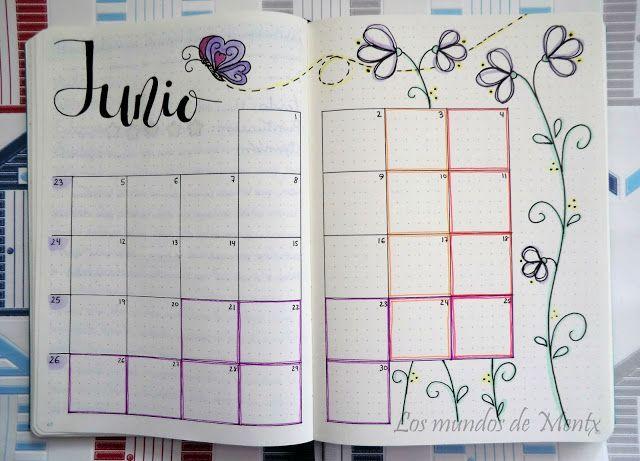 Los mundos de Mentx: Bullet Journal - Junio / June