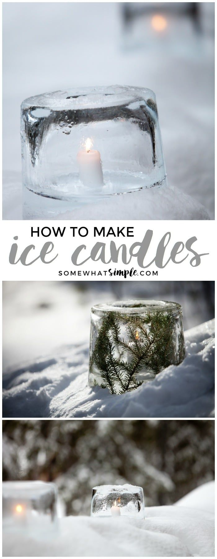 How to Make Ice Candles | These DIY ice candles will transform your walkway into a winter wonderland!