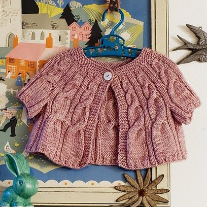 NobleKnits Yarn Shop  - Loop Mignon Baby Sweater Knitting Pattern, $6.95 (http://www.nobleknits.com/loop-mignon-baby-sweater-knitting-pattern/)