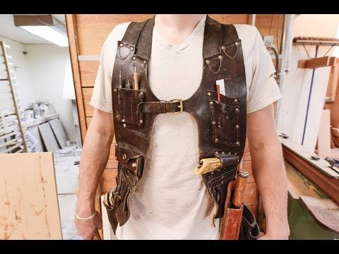 The Samurai Carpenter Shows You How He Made His Functional, Ergonomic Leather Tool Vest—On the Cheap - Core77