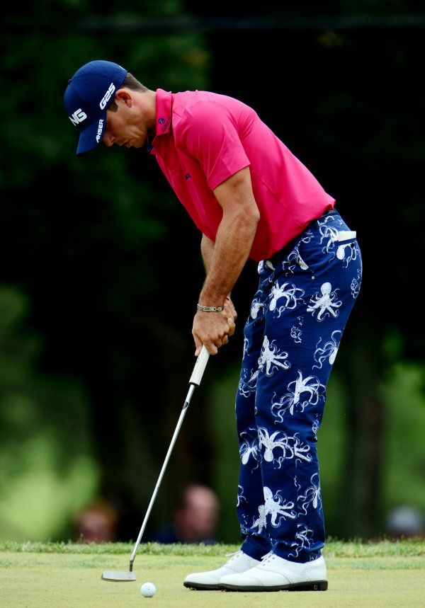 Billy Horschel in RLX octopus golf pants. man, you Golfers  have your own unique style. Huh?