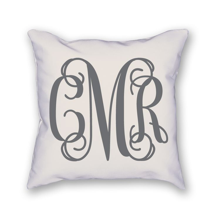 The custom monogram pillow is made just for you! It measures 18x18 and includes the insert as well. Please include the following in a note at checkout: 1. Your monogram exactly as it will appear (firs