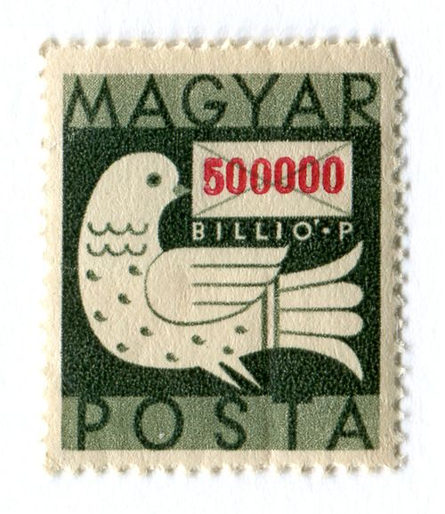 hungarian postage stamp (hyperinflation, 1946)