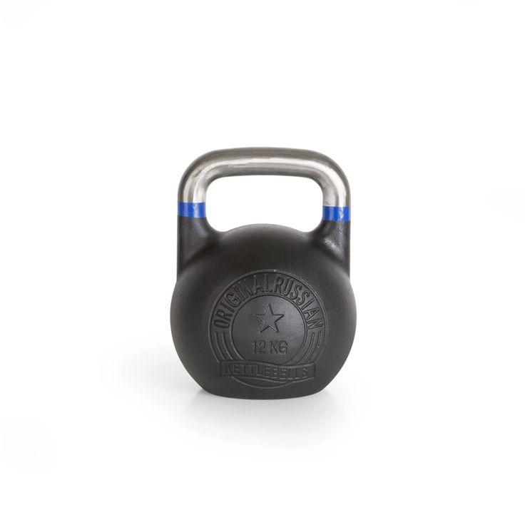 Original Russian Kettlebells - Competition - Wettkampfkettlebell 12 kg. Die Competition-Kettlebell ist besonders robust und langlebig. Der blanke, unlackierte Griff mit Farb-banding ist glatt geschliffen und gewährt ein professionelles und sicheres Handling. Details hier:: http://www.megafitness-shop.info/Kraftsport/Hanteln-Gewichte/Kettlebells/KB-Professional/Original-Russian-Kettlebell-Competition-8-48-kg--1670.html #kettlebell #kugelhantel