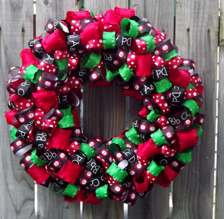 Classroom Wreath Ideas : Best images about school wreath on pinterest