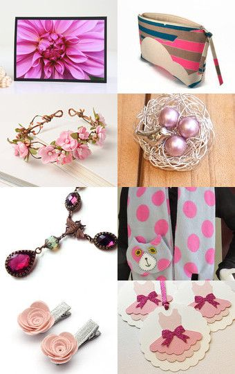 Pretty in pink by Jan Hornett on Etsy--Pinned with TreasuryPin.com