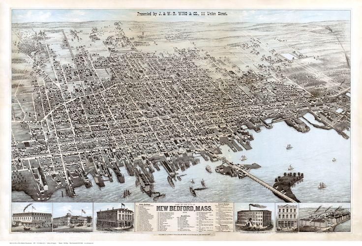 new bedford maps | New Bedford, Massachusetts 1876