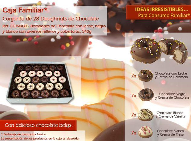 ¡No resiste a nuestros deliciosos donuts de chocolate! ¡Son deliciosos!