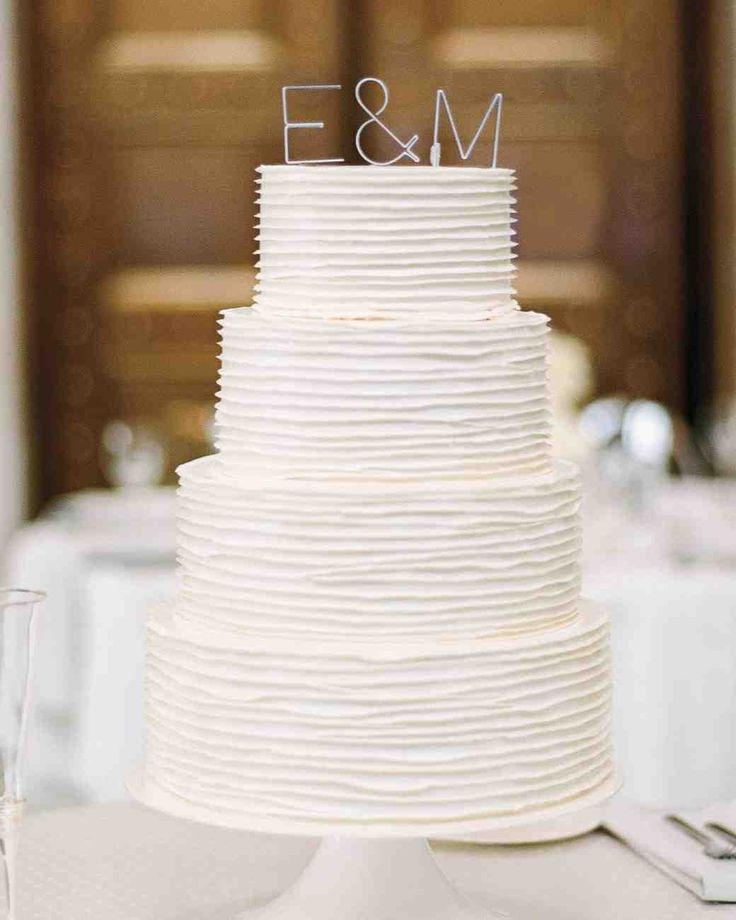 70 White Wedding Cakes | Martha Stewart Weddings - Whether your big day is traditional, modern, or whimsical, a white wedding cake is an elegant choice that will never go out of style. But a simple, timeless color doesn't mean your dessert will be boring! In fact, there are endless options for serving a white cake at your wedding that, well, takes the cake. Check out some of our favorite classic confections—and the many, many styles we have seen—here!