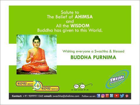 Peace. Happiness. Prayers. #BuddhPurnima greetings from Swachha Detergent Powder