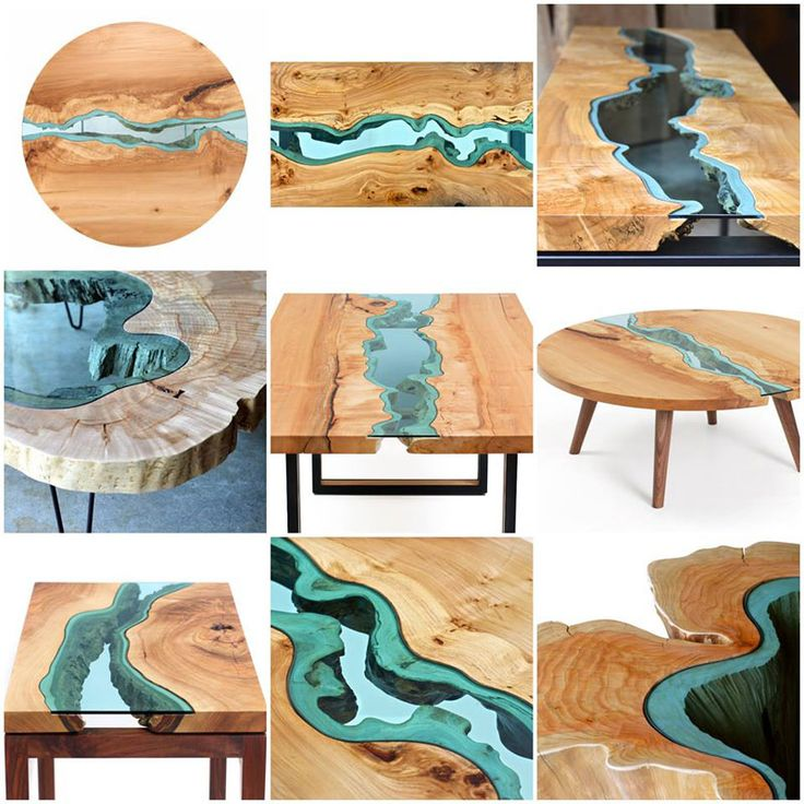 Would LOVE one of these in my future house: so cool! Furniture with Rivers of Glass Running Through Them by Greg Klassen (8)