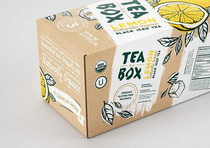 TEA in a BOX (thé)   Design : DDC Lab, Russie (juin 2016)