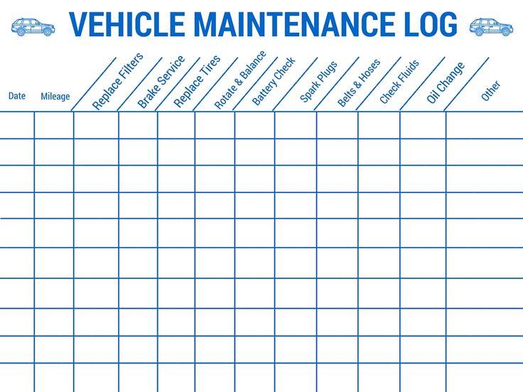 vehicle maintenance schedule pdf