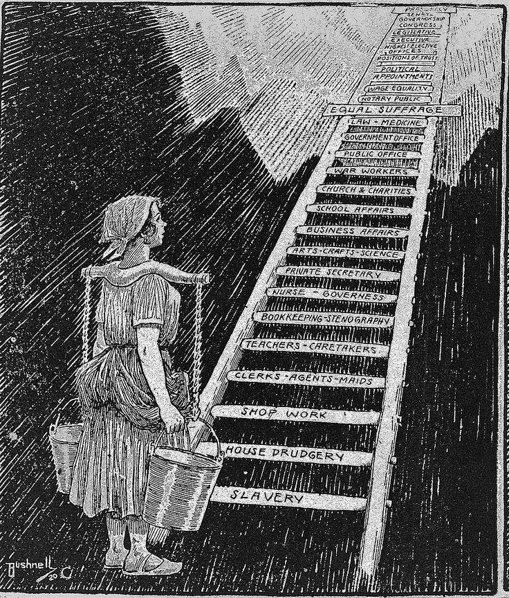 The sky is now her limit, Bushnell, 1920 Pioneras: 'El cielo es ahora su límite'