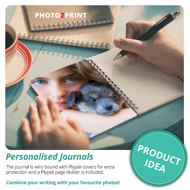 Capture and record your ideas and thoughts with a personalised journal. #penyourmemories #writtenlegacy