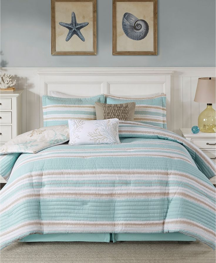 Harbor house ocean reef 6pc king quilted comforter set
