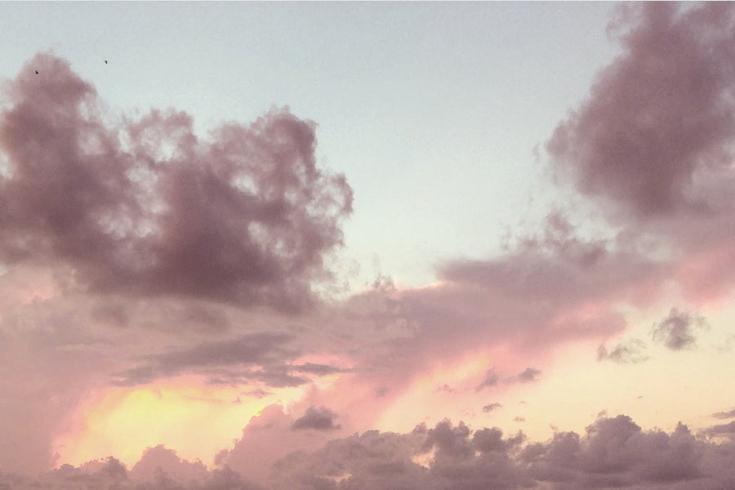 Pink Yellow Blue White Grey Beige Cream Aesthetic Sky Cloud Clouds Sunset Sunrise Dawn Dusk