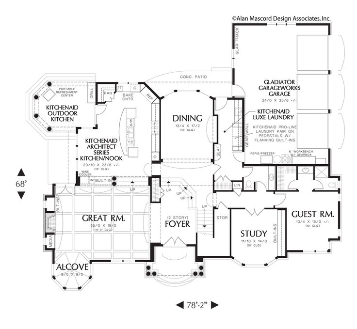 Award Winning Luxury House Plan: Main Floor Plan Of Mascord Plan 2425
